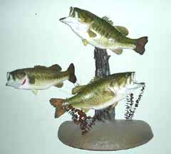 Largemouth bass taxidermy by Tennessee taxidermist Joey Arender