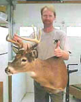 Ohio taxidermist Dan Jennings with the very first REAL DEER FORM mount.